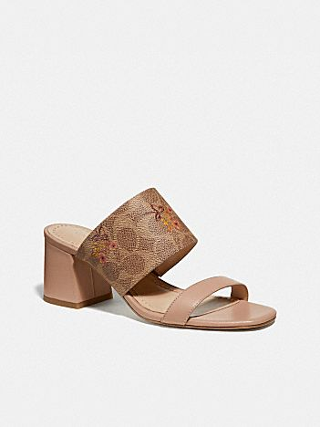 mae mule with floral bow print