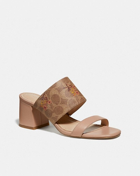 Coach MAE MULE WITH FLORAL BOW PRINT
