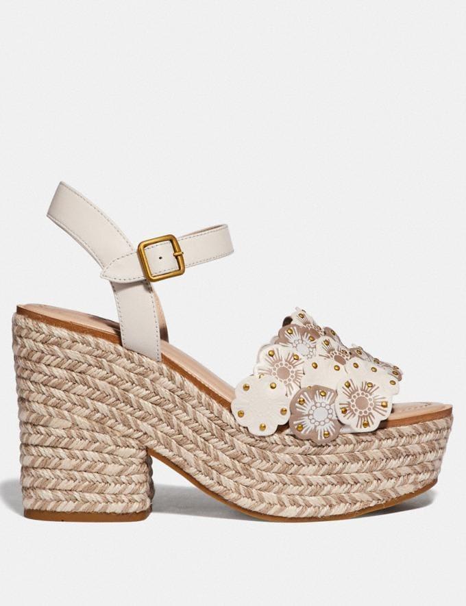 Coach Jae Espadrille Sandal Chalk Multi Women Shoes Sandals Alternate View 1