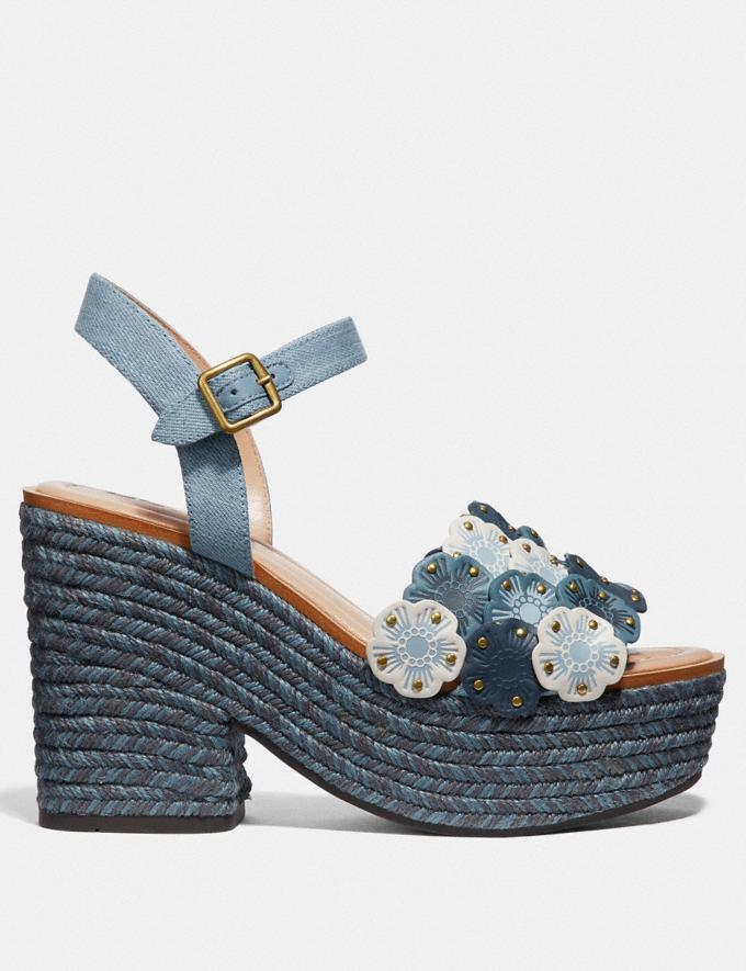 Coach Jae Espadrille Sandal Denim Multi Women Shoes Heels Alternate View 1