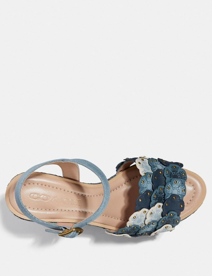 Coach Jae Espadrille-Sandale Denim Multi Neu Neuheiten für Damen Alternative Ansicht 2