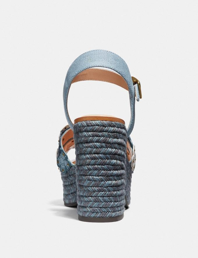 Coach Jae Espadrille-Sandale Denim Multi Neu Neuheiten für Damen Alternative Ansicht 3