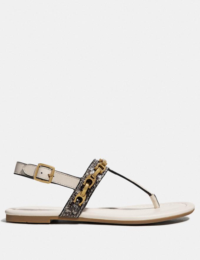Coach Jenna Sandal Natural/Chalk SALE Women's Sale Shoes Alternate View 1