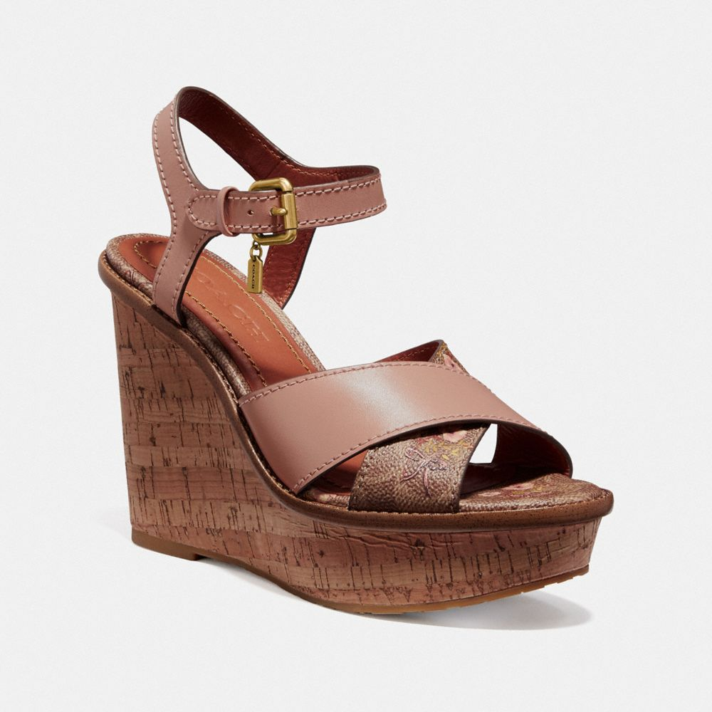 CROSS BAND HIGH WEDGE SANDAL