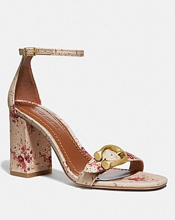 MAYA SANDAL WITH FLORAL BUNDLE PRINT