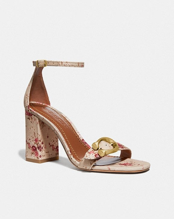 Coach MAYA SANDAL WITH FLORAL BUNDLE PRINT
