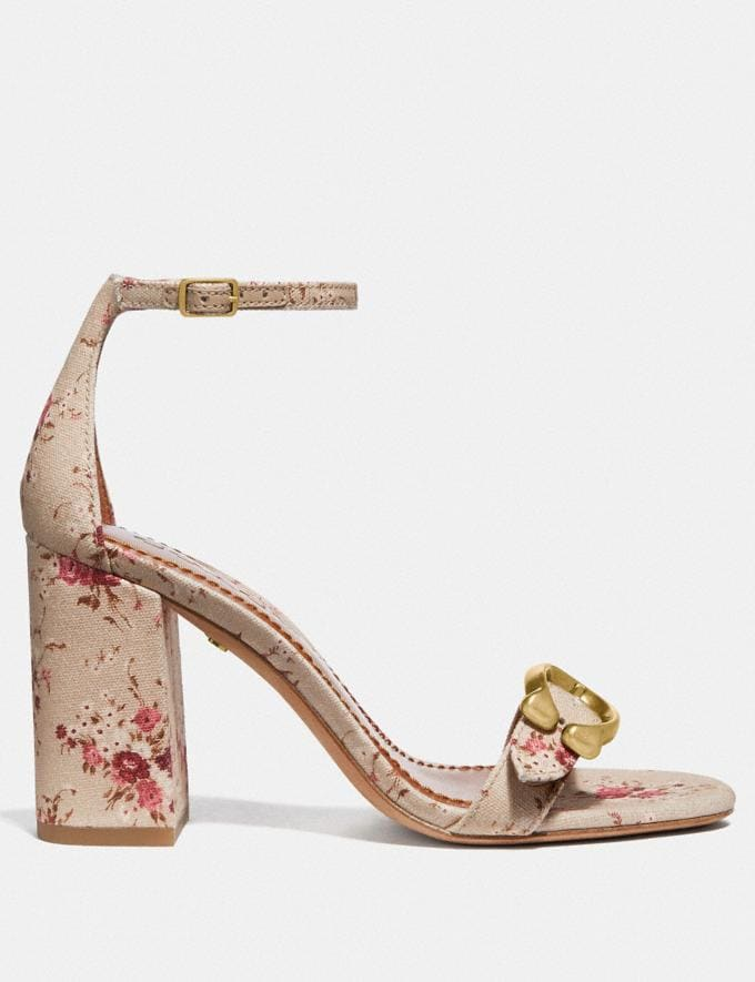Coach Maya Sandal With Floral Bundle Print Beechwood Multi  Alternate View 1