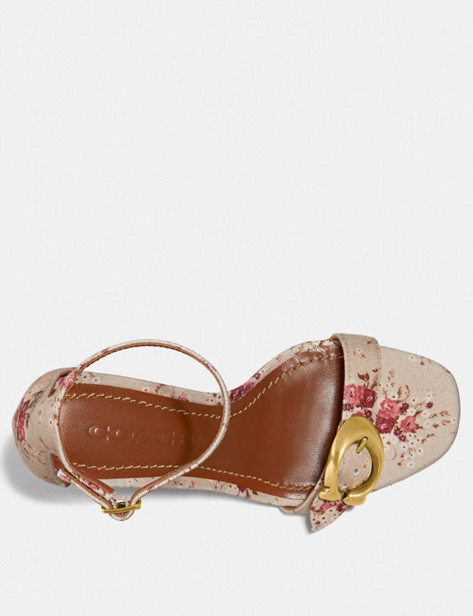 Coach Maya Sandal With Floral Bundle Print Beechwood Multi  Alternate View 2