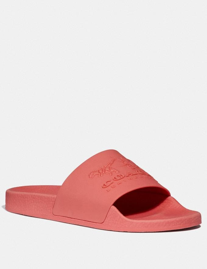 Coach Udele Sport Slide Coral/Pink Women Shoes Sandals