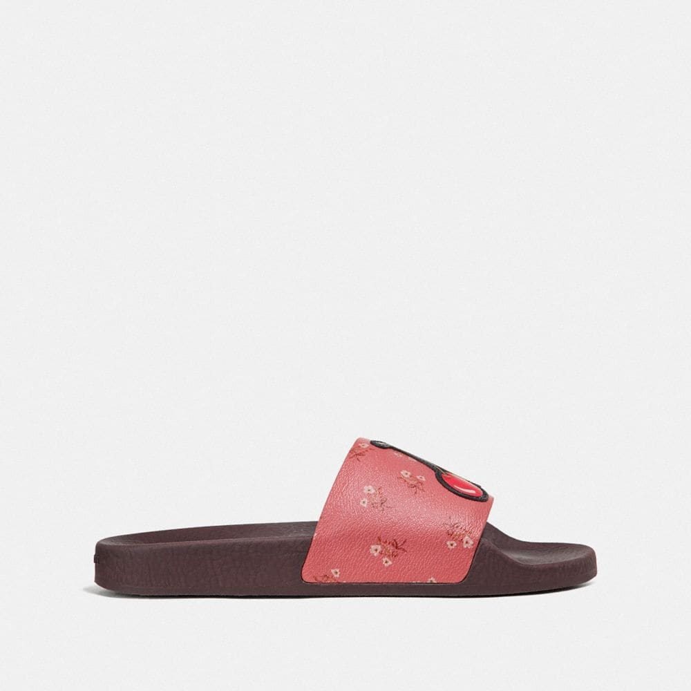 Coach UDELE SPORT SLIDE WITH FLORAL BOW PRINT Alternate View 1