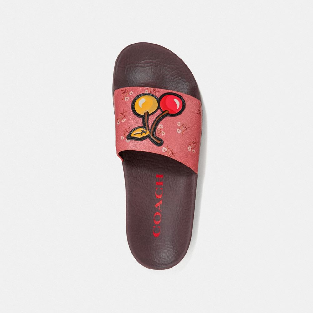 Coach Udele Sport Slide With Floral Bow Print Alternate View 2