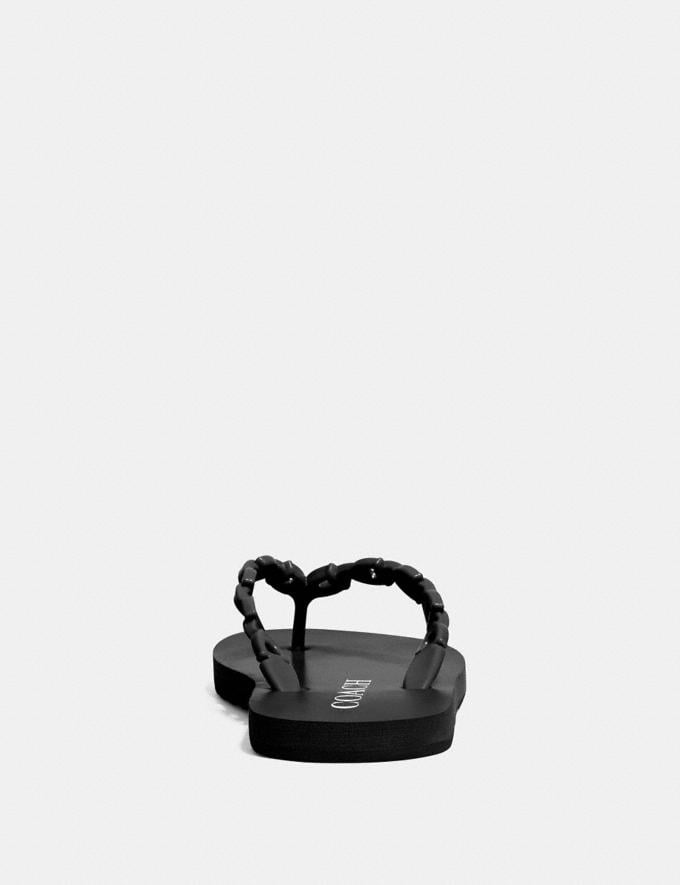 Coach Sirena Flip Flop Black Women Shoes Flats Alternate View 3