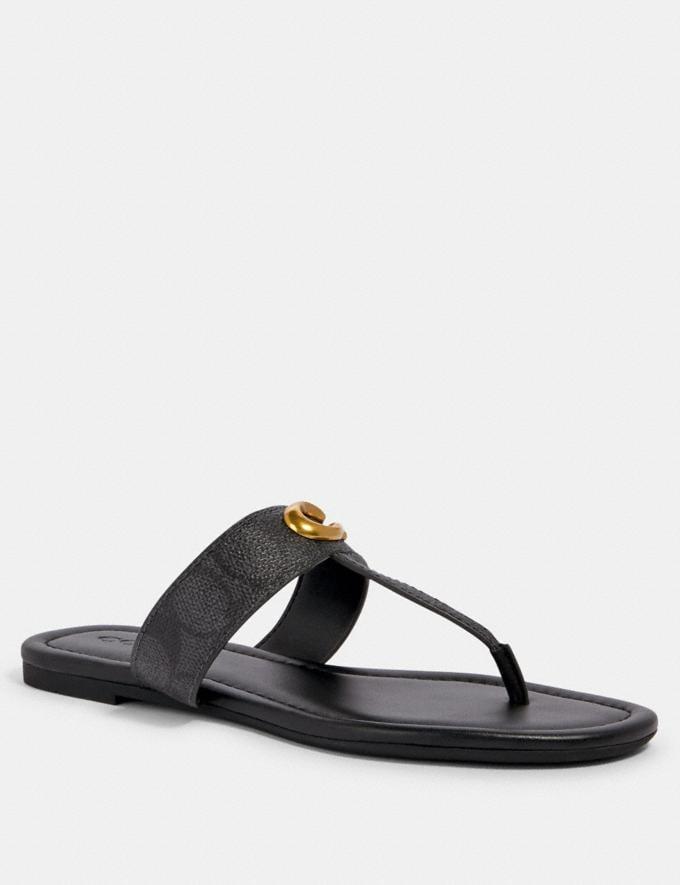Coach Jessie Sandal Charcoal/Black Friends & Family Sale Women's Shoes