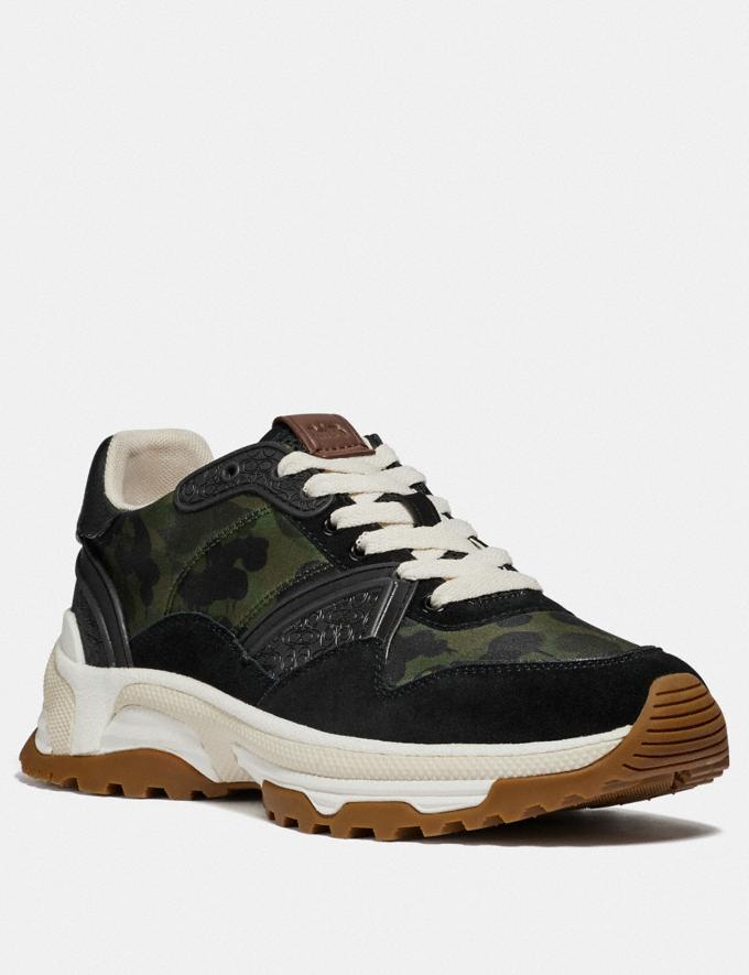 Coach C143 Runner With Wild Beast Print Wild Beast Men Shoes Trainers