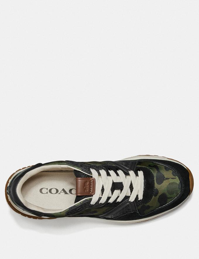 Coach C143 Runner With Wild Beast Print Wild Beast Men Shoes Trainers Alternate View 2