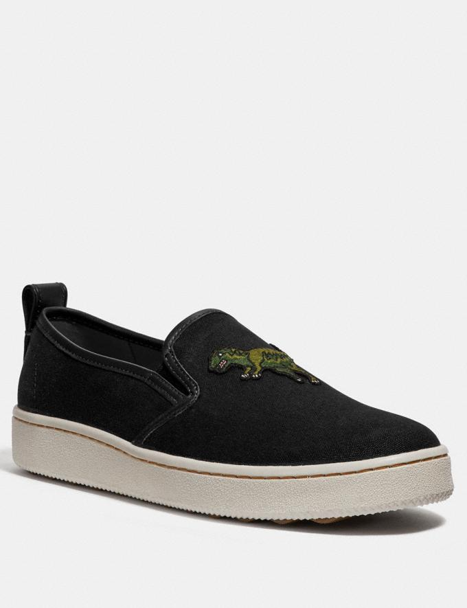 Coach C115 Slip on Black