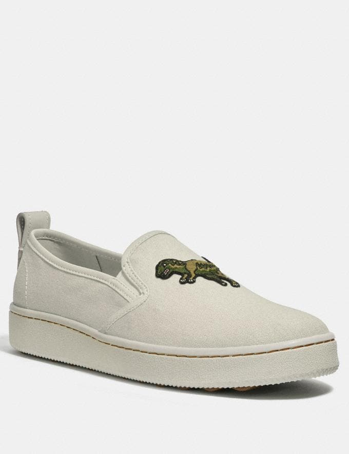 Coach C115 Slip on Chalk