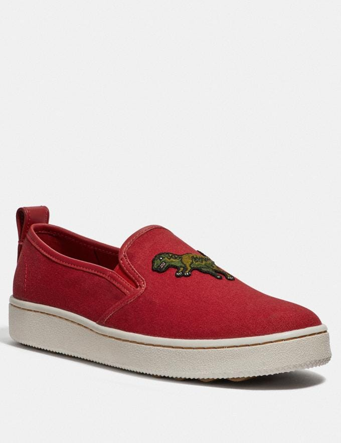 Coach C115 Slip on Rexy Red New Featured Rexy Collection