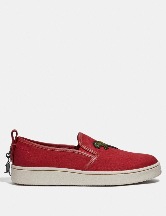 Coach C115 Slip on Rexy Red  Alternate View 1