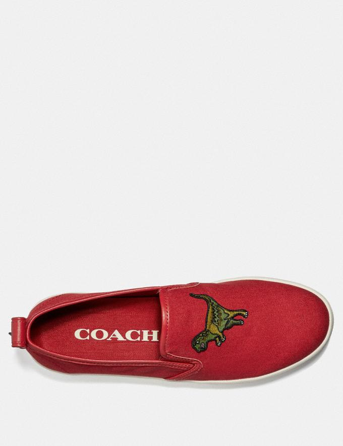 Coach C115 Slip on Rexy Red New Featured Rexy Collection Alternate View 2
