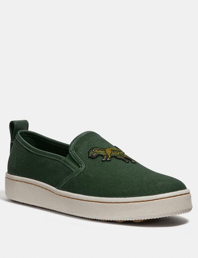 Coach C115 Slip on Rexy Green Men Shoes Trainers