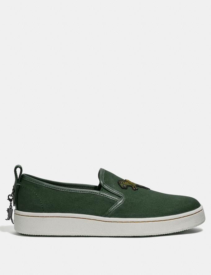 Coach C115 Slip on Rexy Green Men Shoes Trainers Alternate View 1