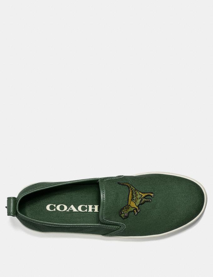 Coach C115 Slip on Rexy Green Men Shoes Trainers Alternate View 2