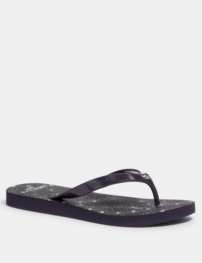 Coach Flip Flop Purple