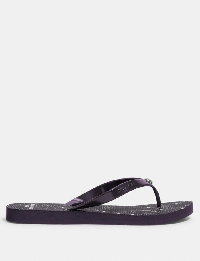 Coach Flip Flop Purple  Alternate View 1