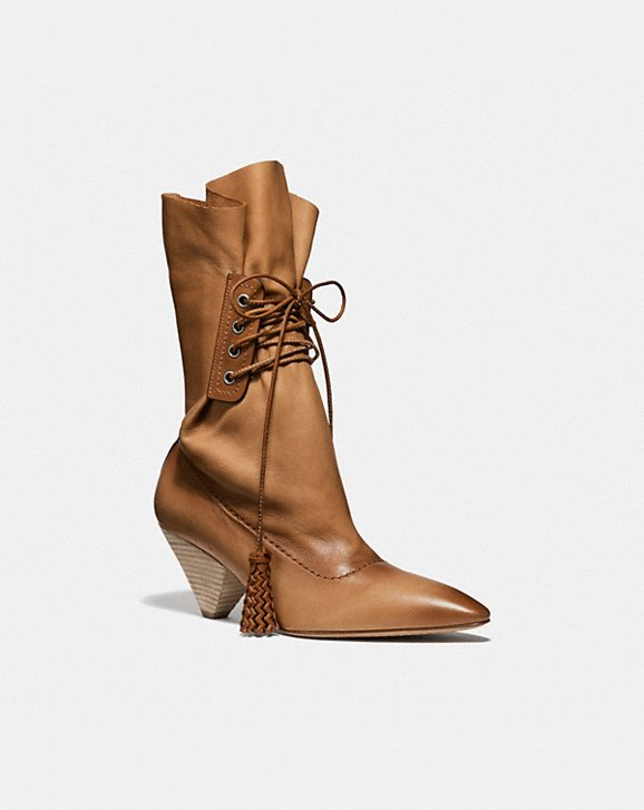 Coach LACE UP TASSLE BOOT