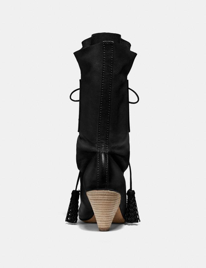 Coach Lace Up Tassle Boot Black SALE Women's Sale Alternate View 3