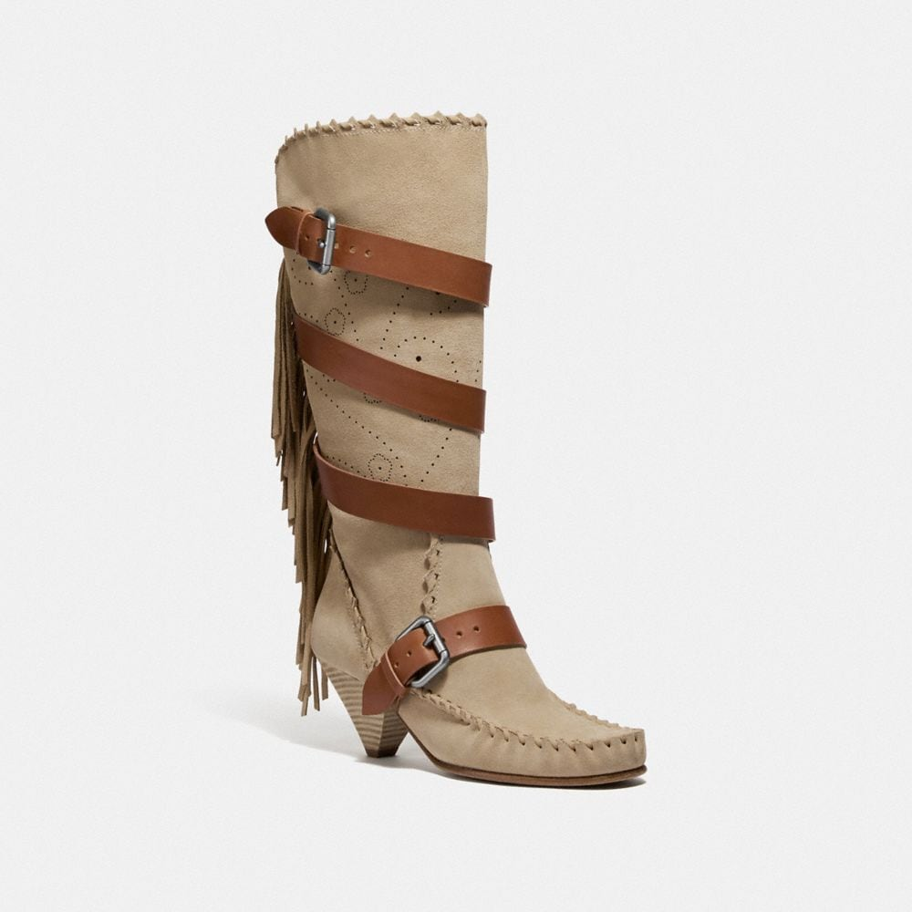 Coach Fringe Buckle Boot