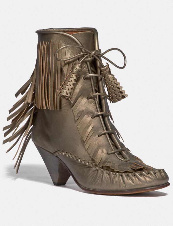 Coach Fringe Boot Burnish Platinum SALE Women's Sale Shoes