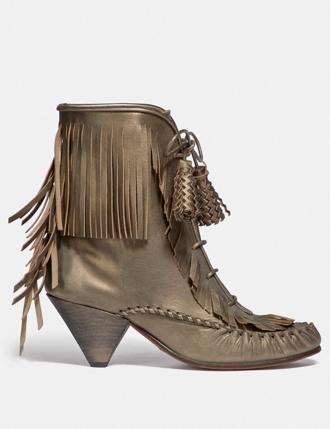 Coach Fringe Boot Burnish Platinum SALE Women's Sale Shoes Alternate View 1