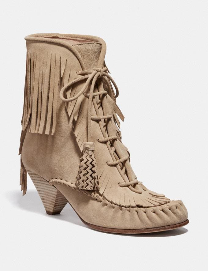 Coach Fringe Boot Light Tan SALE Women's Sale Shoes