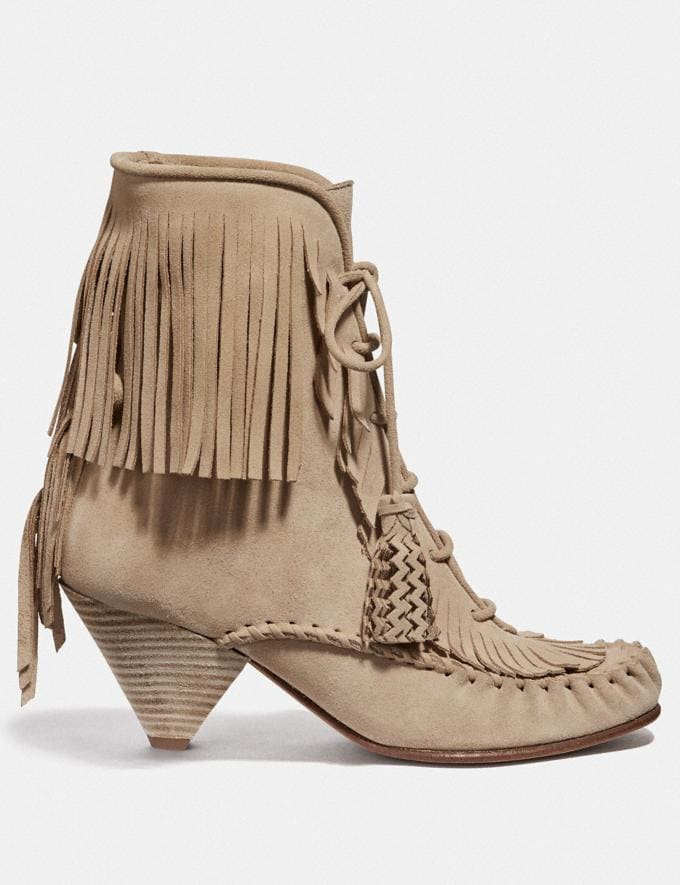Coach Fringe Boot Light Tan SALE Women's Sale Shoes Alternate View 1