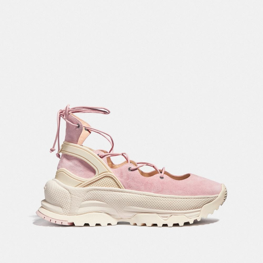 Coach Lace Up Ballerina Sneaker Alternate View 1