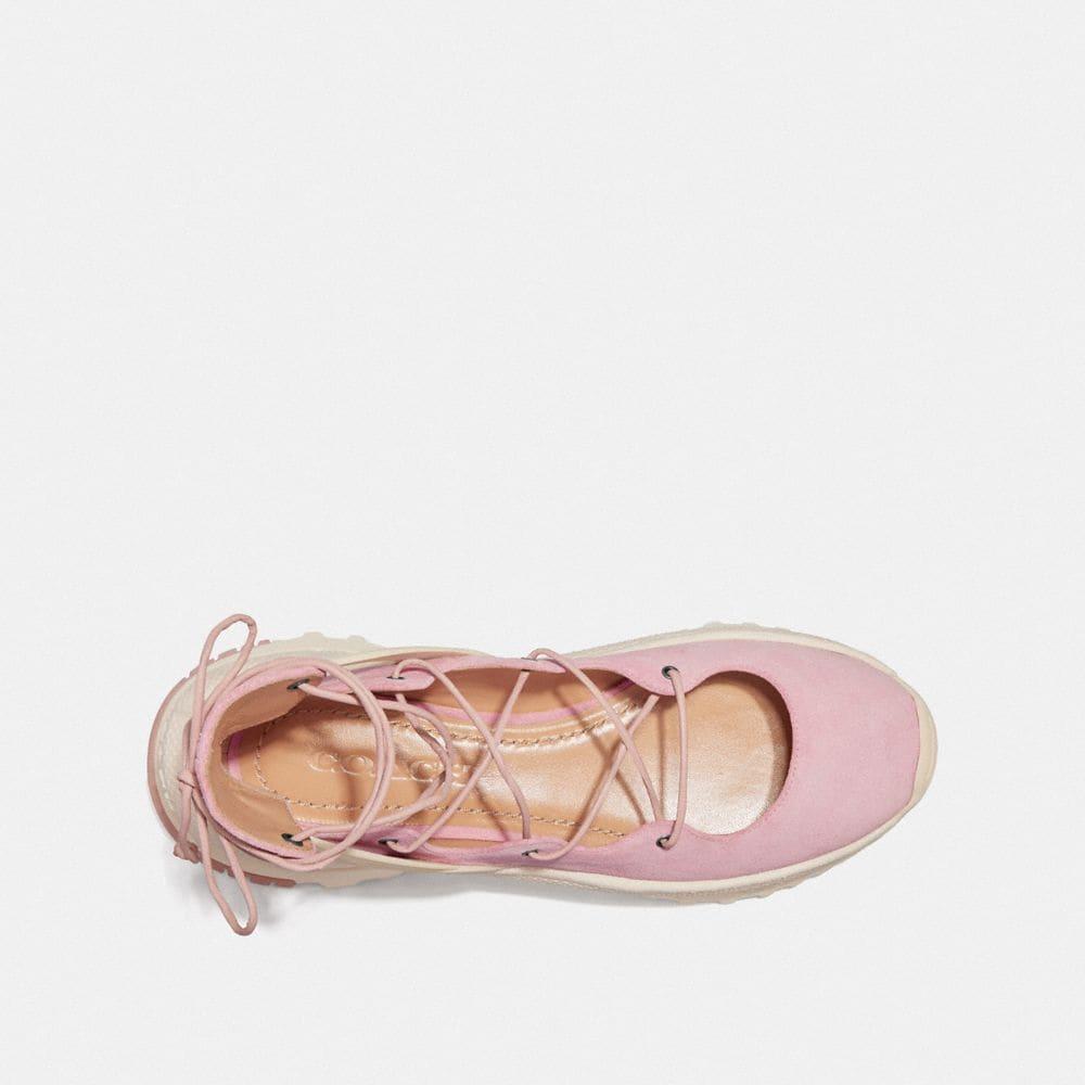 Coach Lace Up Ballerina Sneaker Alternate View 2