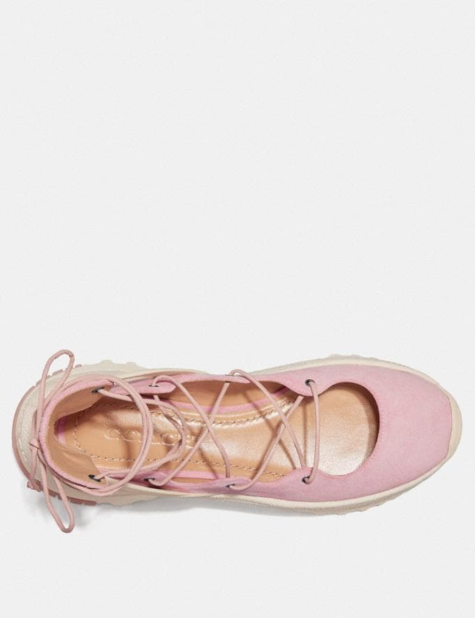 Coach Lace Up Ballerina Sneaker Blossom SALE Women's Sale Shoes Alternate View 2