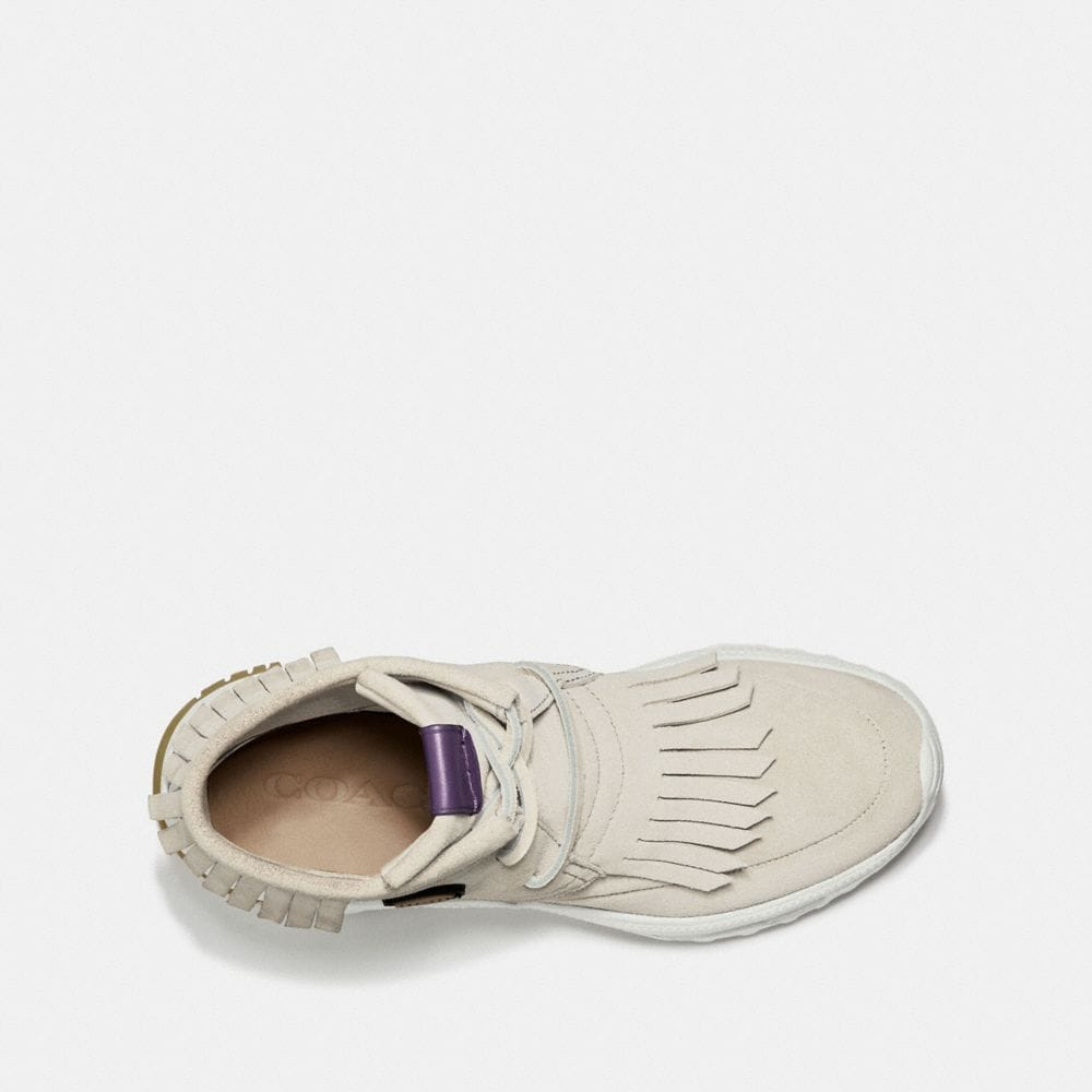 Coach Fringe Moccasin Sneaker With Coach Patch Alternate View 2