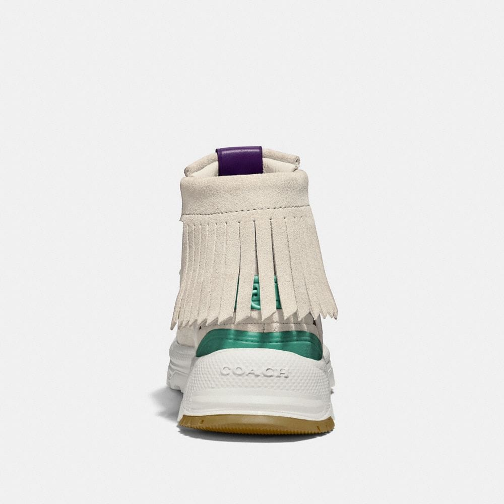 Coach Fringe Moccasin Sneaker With Coach Patch Alternate View 3