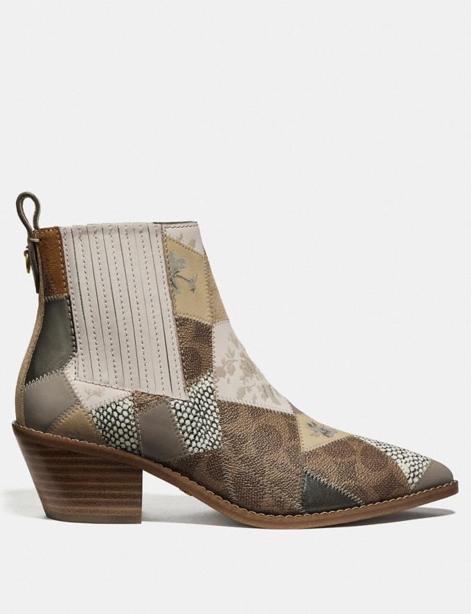 Coach Melody Bootie Tan Multi New Women's Trends Patchwork Alternate View 1