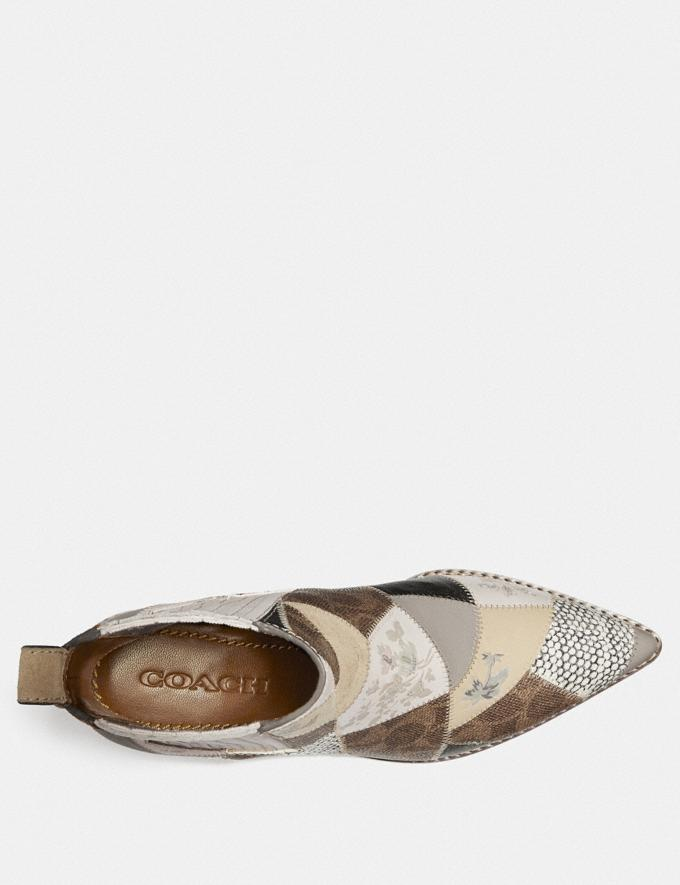 Coach Melody Bootie Tan Multi New Women's Trends Patchwork Alternate View 2