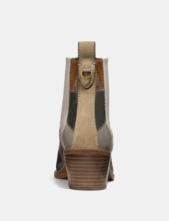 Coach Melody Bootie Tan Multi New Women's Trends Patchwork Alternate View 3
