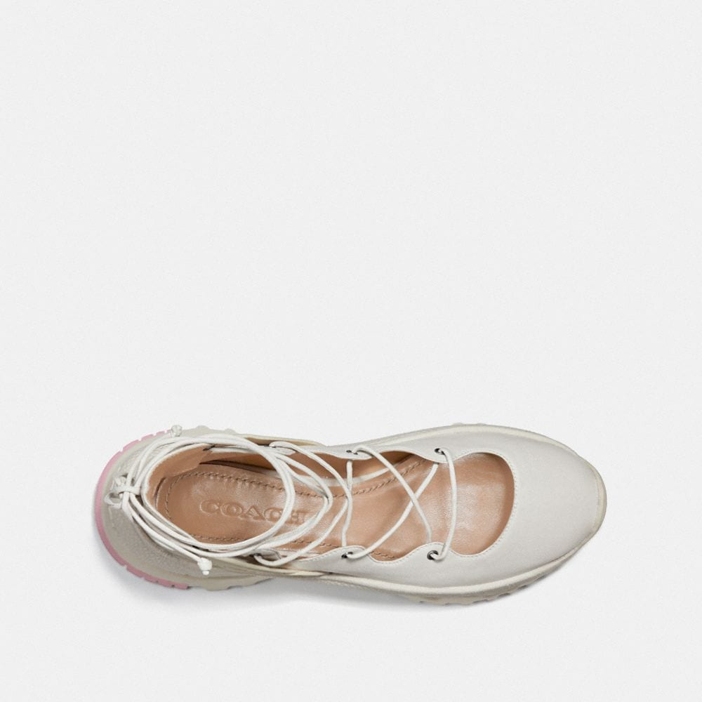 Coach Lace Up Ballerina Sneaker Alternate View 2