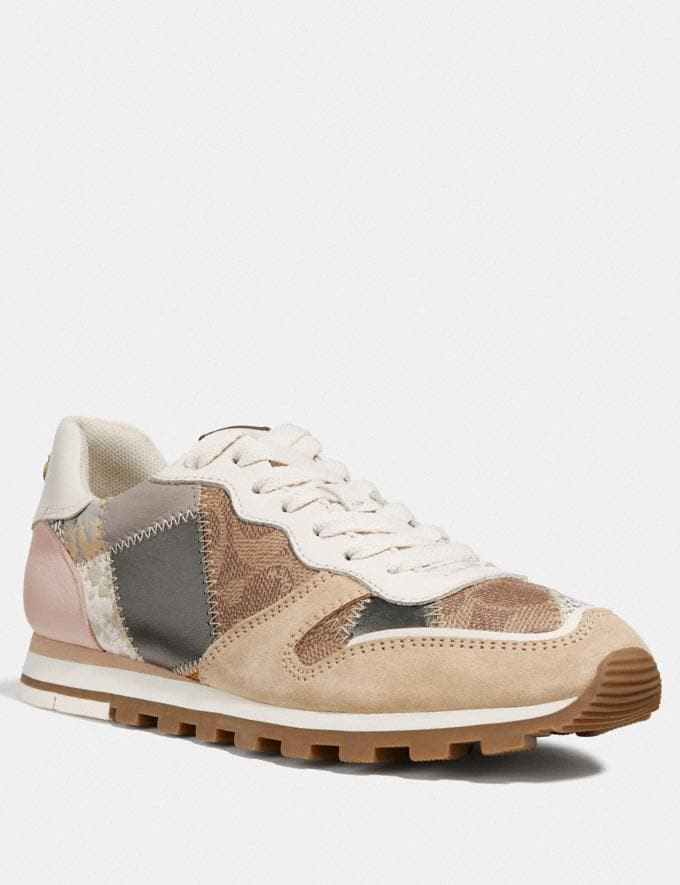 Coach C118 Runner Tan Multi New Women's New Arrivals Shoes