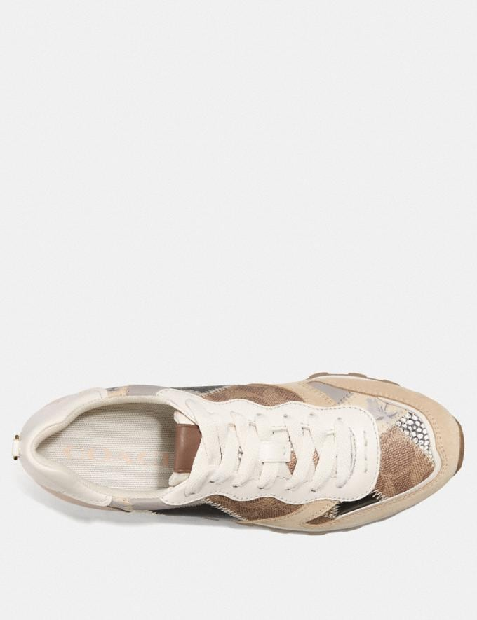 Coach C118 Runner Tan Multi Women Shoes Trainers Alternate View 2