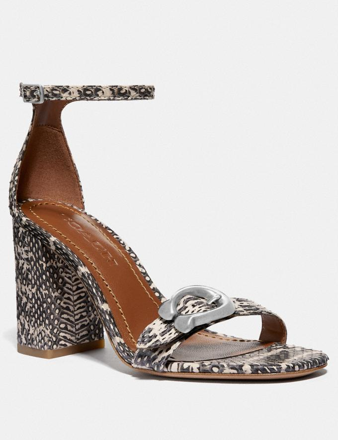 Coach Maya Sandal Natural SALE Women's Sale Shoes