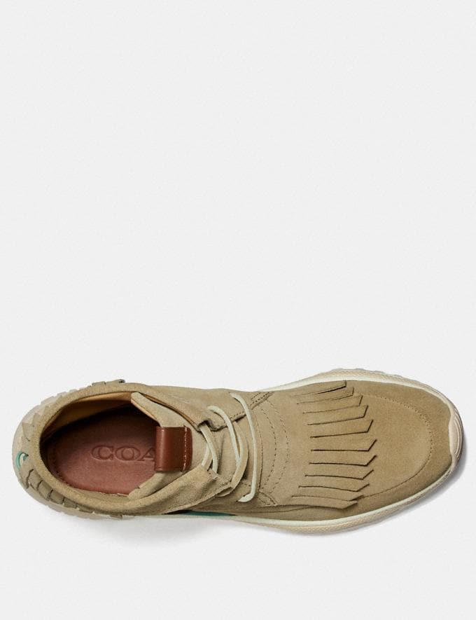Coach C243 Moccasin Sneaker With Coach Patch Tan Men Shoes Sneakers Alternate View 2