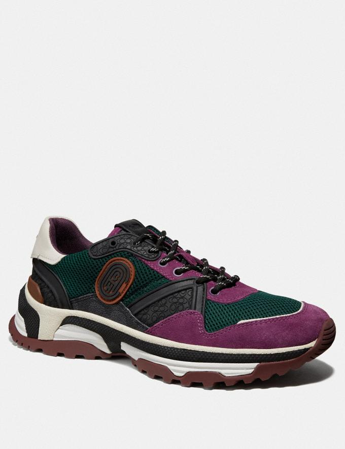 Coach C143 Runner With Coach Patch Green Multi